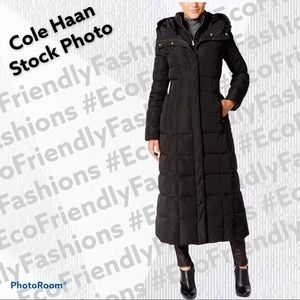 Cole Haan Signature Layered Maxi Puffer Coat